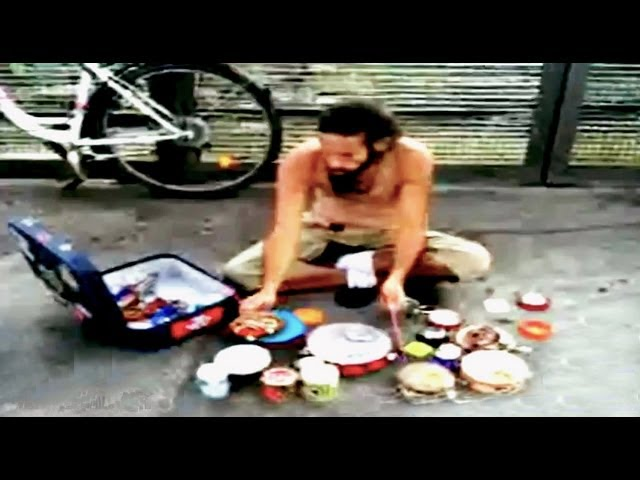 Awesome Street Drummer's Homemade Percussion Kit || YDW
