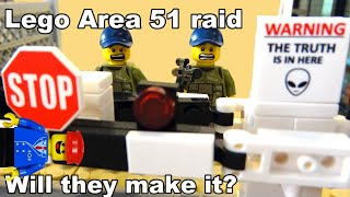 Area 51 raid in Lego with the Terminator!