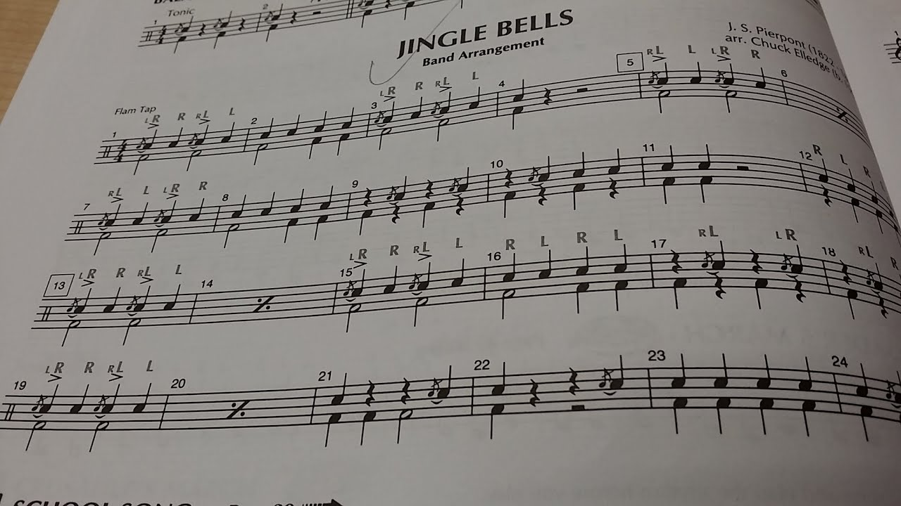 Snare and Bass Drum Parts - Jingle Bells - YouTube