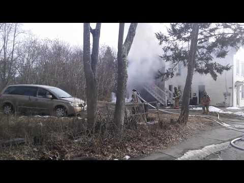 02.01.14 Fire on Boswell Ave, Norwich, Ct. Part 1