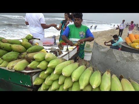 People Eating & Enjoying | Best Indian Street Food | Chennai Marina Beach (Tamil Nadu India )