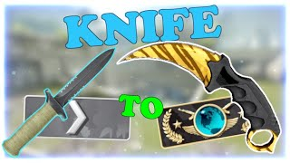 Silver 1 to Global Elite ★ Knife