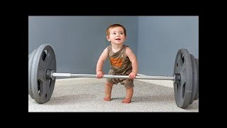 TRY TO STAY SERIOUS Challenge -  FUNNY Babies and Toddlers Working Out Compilation