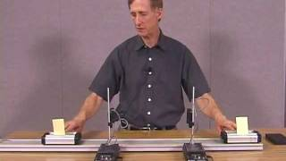 Momentum and Kinetic Energy in 1 Sticking Collisions