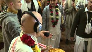 2014.10.18. Vyasa Puja -5- Arati Kirtan HG Sankarshan Das Adhikari, Kaunas, Lithuania