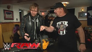 Terry Funk gives Dean Ambrose the means to cut down Brock Lesnar at WrestleMania: Raw, Mar. 21, 2016