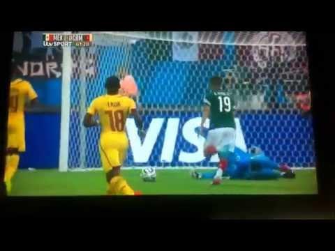Oribe Peralta GOAAAAAAAAL Mexico 1 Cameroon O