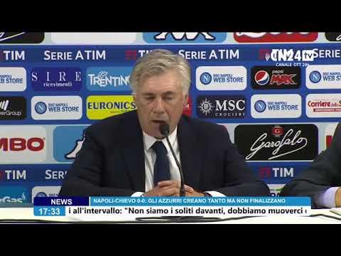 Napoli - Chievo, conferenza stampa dopo partita.