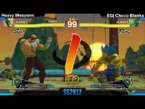 SS2K12 AE2012: Heavy Weapons (Sagat) vs ChocoBlanka (Blanka) - Day 1 (Losers Pool Match)