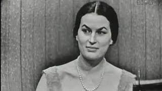 What's My Line? - Silvana Mangano (Aug 19, 1956)