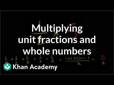 Multiplying Fractions And Whole Numbers video