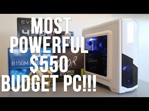 Best $550 Budget Gaming PC Build Skylake GTX 1060 (w/ Benchmarks)