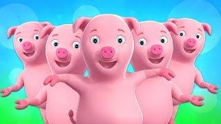 Cinco piggies pequenos | rimas para crianças | crianças músicas compilação em português