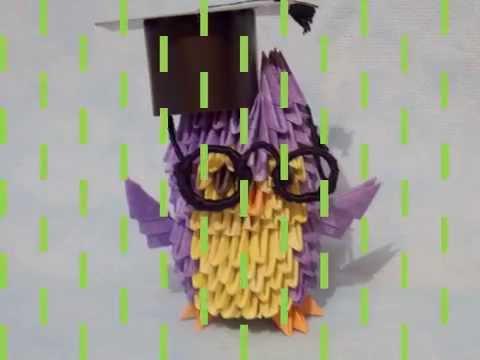 Модульное оригами!!! Совенок