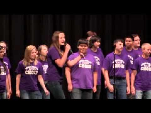 """Marble Falls Middle school Choir """"One Tribe"""" Baylee Adams rap."""