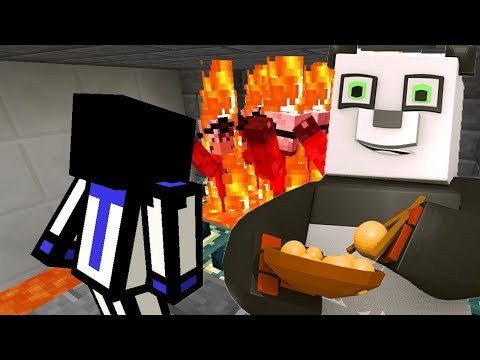 РЕАКЦИЯ НА ТО КАК ТЕРОСЕР ПРОХОДИТ МОЮ КАРТУ ДЛЯ НЕГО! С ВЕБКОЙ В КОСТЮМЕ ПАНДЫ! Minecraft