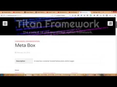 WordPress Bangla Tutorial Titan Framework Part 2: Metabox