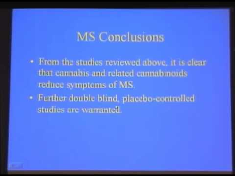 Cannabis for MS & Spinal Cord Injury, Richard Musty, PhD  (Complete)