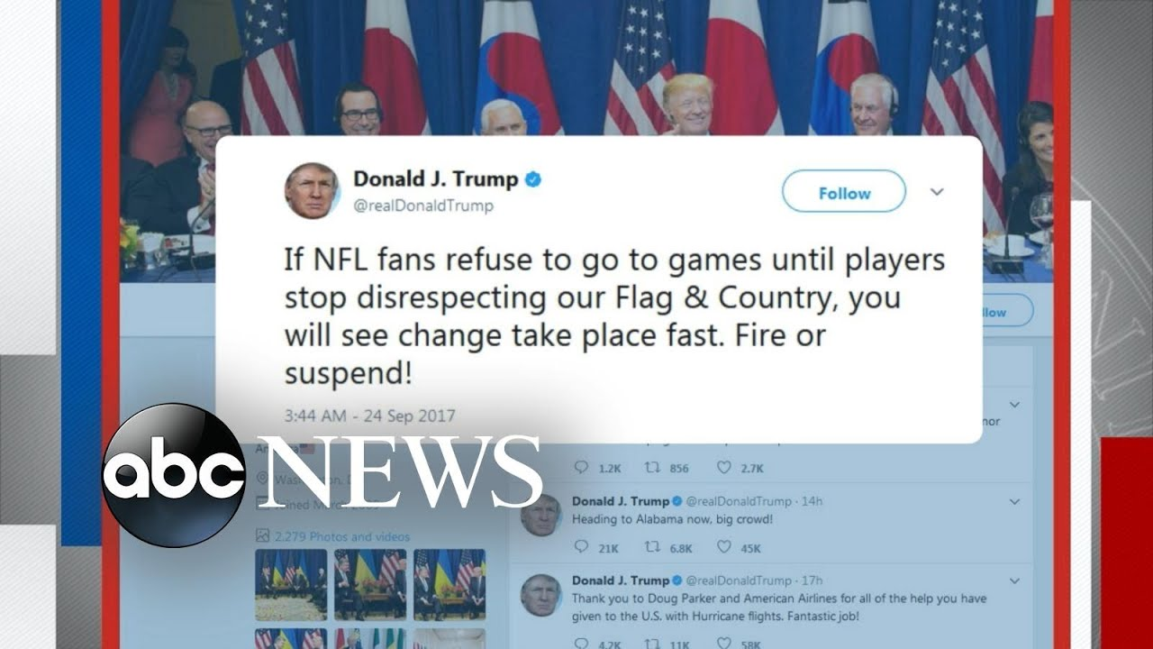 Trump takes on NBA and NFL stars