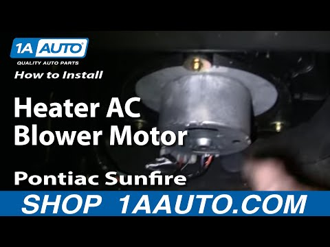 How To Install Heater AC Blower Motor Cavalier Sunfire 95-05 1AAuto.com