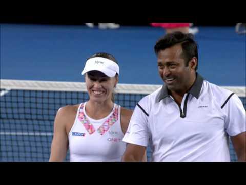 Pavlyuchenkova/Inglot v Hingis/Paes highlights (1R)   Australian Open 2016