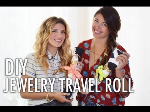 Behind The Scenes DIY Jewelry Travel Roll with I Spy DIY and Mr. Kate
