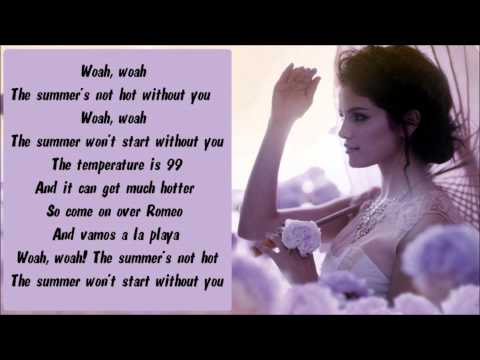 Selena Gomez & The Scene - Summer's Not Hot Karaoke   Instrumental With Lyrics On Screen video