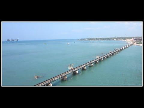 View Atop India's Second Longest Bridge Over The Sea : PAMBAN BRIDGE