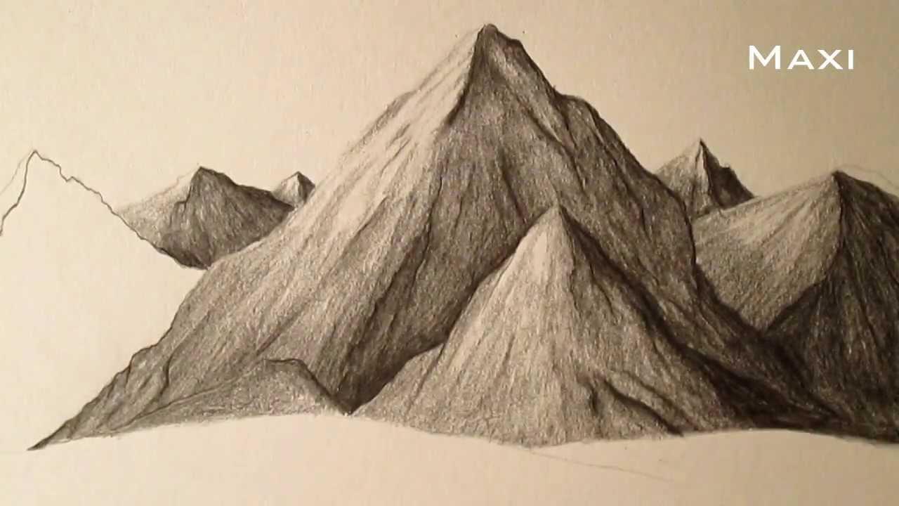 lápiz paso a paso, cómo aprender a dibujar paisajes - YouTube