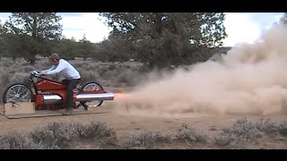 RocketMan: ONE OF A KIND TWIN ENGINE PULSEJET Bike.