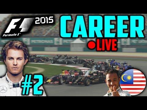 F1 2015 Nico Rosberg Career Mode #2: Malaysia