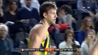 Jan Vesely dunk on Manuchar Markoishvili 22.01.2016