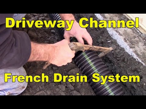 Driveway Drainage System Gravel as Channel Drain