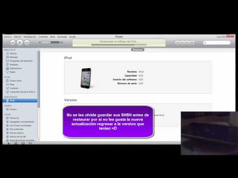 Actualizar/Restaurar en modo DFU iOS 4.3.1