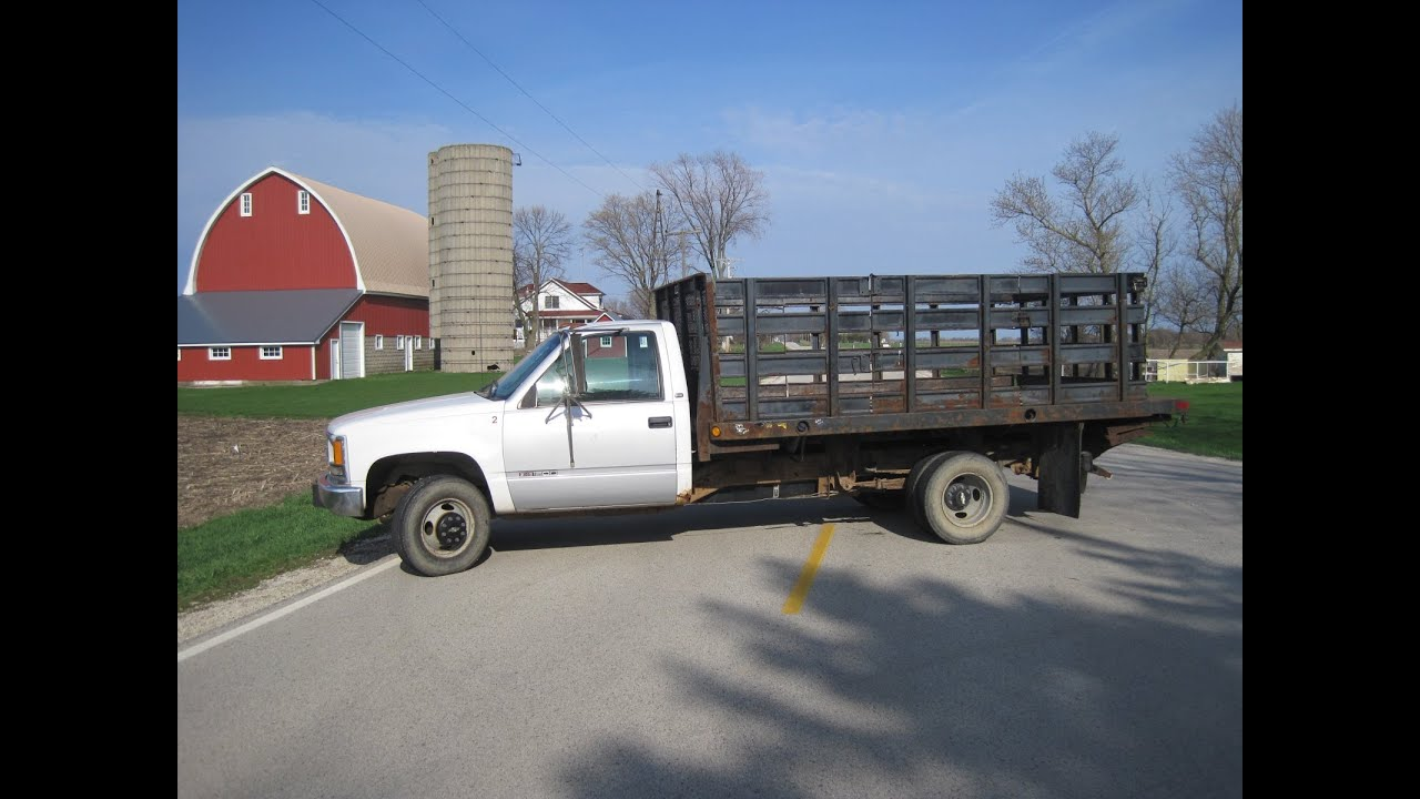 Dekalb Sycamore Chevy >> 97 CHEVY STAKE BODY TRUCK W/LIFT GATE! RUNS GREAT! 4 SALE #1512 - YouTube