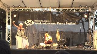 Aki-Ra Sunrise(lyra) featuring  Erika(dance) World Music and Dance Festival Sai 2015