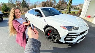 SURPRISING MY GIRLFRIEND WITH HER DREAM LAMBORGHINI!!!
