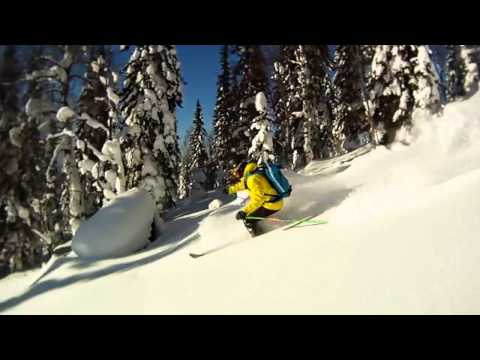 GoPro Горные лыжи Лужба Mountain skiing in Lujba