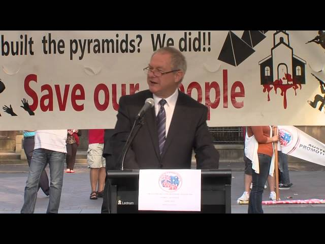 Hon. Greg Donnelley MLC at Coptic Protest Sydney April 2013