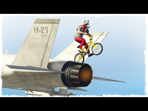 ПРЫЖОК С ИСТРЕБИТЕЛЯ НА BMX В GTA ONLINE #340 (УГАР В ГТА ОНЛАЙН)