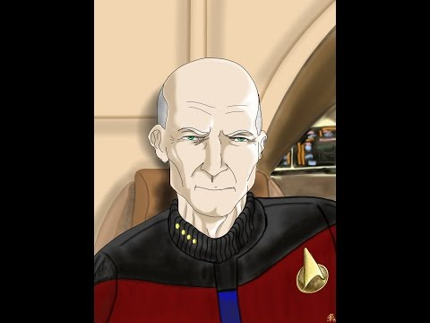 SPEED PAINTING STAR TREK TNG - CAPTAIN PICARD  on an iPad2