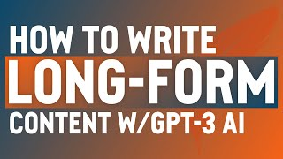 Download lagu How to Write Long-Form Content Using GPT-3 AI (ShortlyAI)