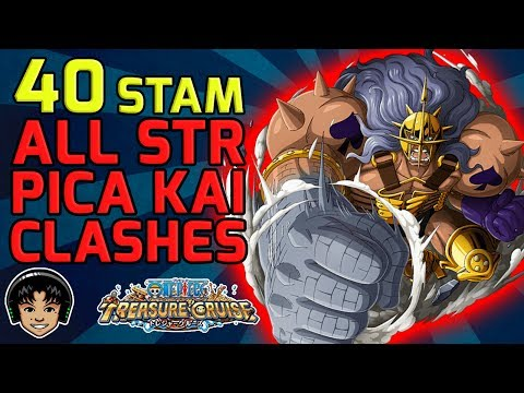 Walkthrough for ALL STR Pica Kai 40 Stamina Clashes [One Piece Treasure Cruise]
