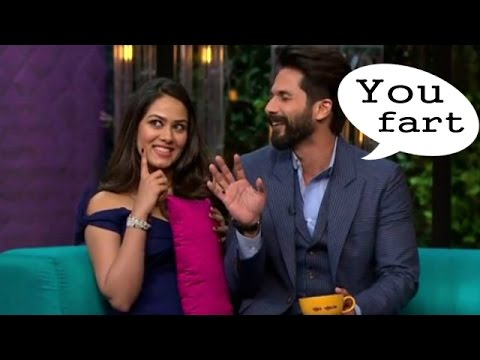 Shahid said his wife farts on Koffee with Karan !