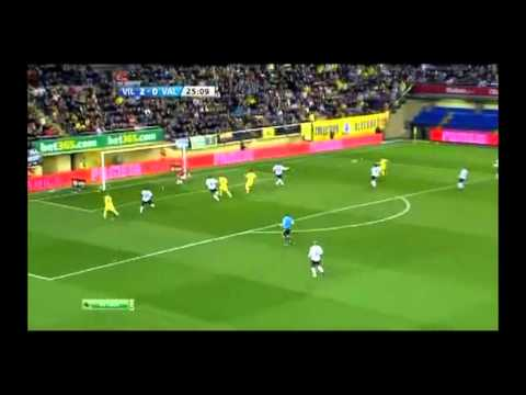 Villareal-Valencia (villareal playing one touch) 2012-01-08