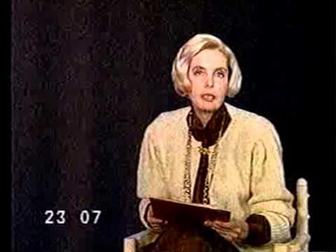 Диктор ЦТ Наталья Чёлобова (1989г.)