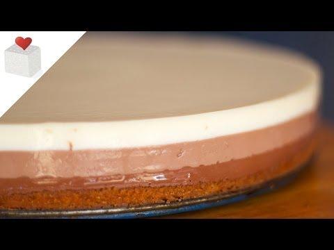 Cómo hacer paso a paso una Tarta Tres Chocolates con base de galleta | Recetas por Azúcar con Amor