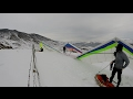 Hang gliding snowy scenic flight at Cliffside (near Rufus,OR) 2/2/17