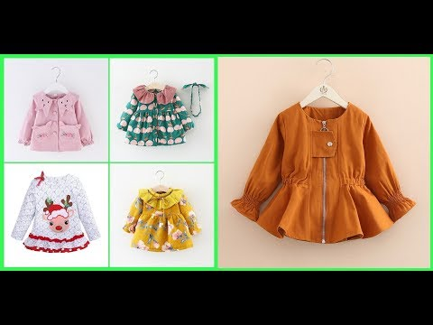 Stylish Baby Girl Winter Frocks Designs Ideas=Kid Girls Casual Dress Design Images 2018-19