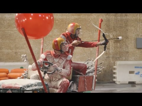 Archery Kart Battle ft. Luke Bryan | Dude Perfect